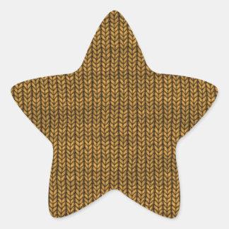 yellow yarn textured sticker