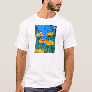 Yellow Yarrow Flower Art Painting T-Shirt