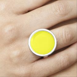 Yellow Yayness Photo Ring