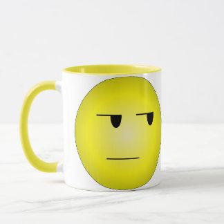 Yellow Yeah Right Smiley Mug
