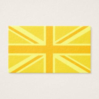 Yellow Yellow Union Jack British Flag Background Business Card
