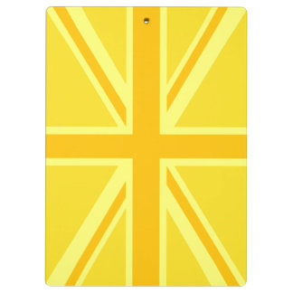 Yellow Yellow Union Jack British Flag Background Clipboard