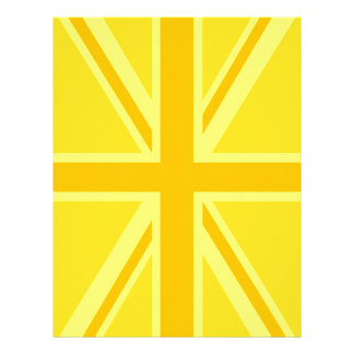 Yellow Yellow Union Jack British Flag Background Flyer