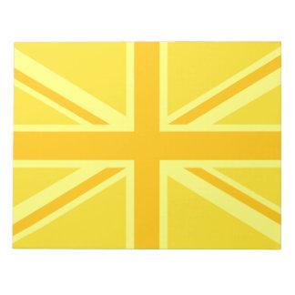 Yellow Yellow Union Jack British Flag Background Notepad