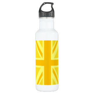Yellow Yellow Union Jack British Flag Background Stainless Steel Water Bottle
