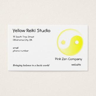Yellow Yin Yang symbol Business Card
