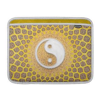 Yellow Ying Yang Mandala MacBook Air Sleeve