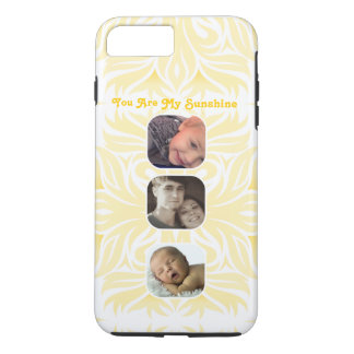 Yellow You Are My Sunshine Floral Photo Collage iPhone 7 Plus Case