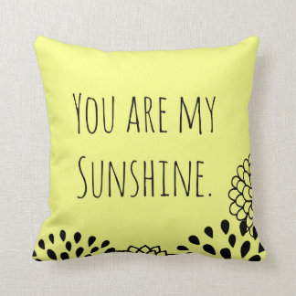 Yellow You Are My Sunshine Pillows
