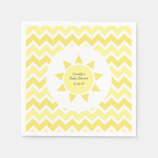 Yellow You are my sunshine theme party Standard Cocktail Napkin
