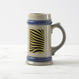 Yellow zebra beer stein