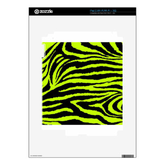 Yellow zebra Fever Decal For The iPad 2