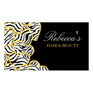 Yellow zebra Hearts Design Business Card Business Card