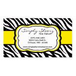 Yellow Zebra Print Hair Salon Business Card