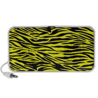Yellow Zebra Print Mini Speaker