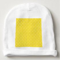 Yellow Zebra Print Pattern Baby Beanie