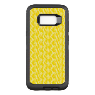 Yellow Zebra Print Pattern OtterBox Defender Samsung Galaxy S8+ Case