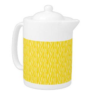 Yellow Zebra Print Pattern Teapot
