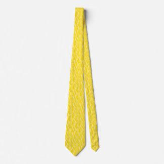 Yellow Zebra Print Pattern Tie