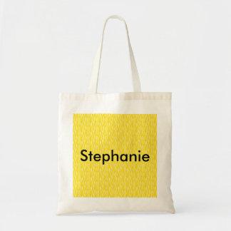 Yellow Zebra Print Pattern Tote Bag