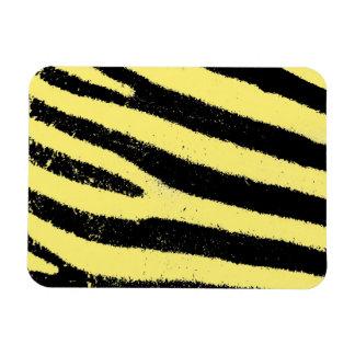Yellow zebra rectangle magnet