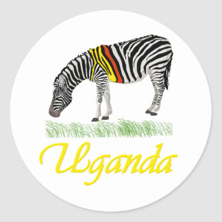 Yellow Zebra Series Sticker