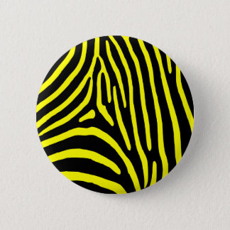 Yellow Zebra Stripes Pinback Button