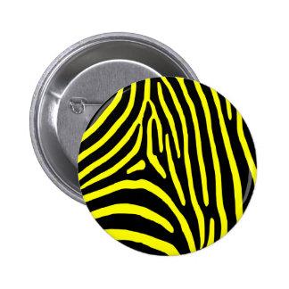 Yellow Zebra Stripes Pinback Button