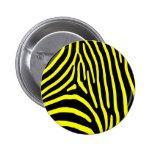 Yellow Zebra Stripes Pins