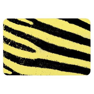 Yellow zebra vinyl magnets