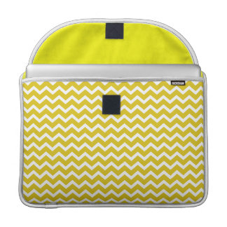 Yellow Zig Zag Chevrons Pattern MacBook Pro Sleeve