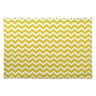 Yellow Zig Zag Chevrons Pattern Place Mat
