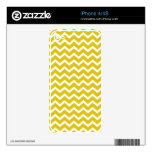 Yellow Zig Zag Chevrons Pattern Decal For iPhone 4S