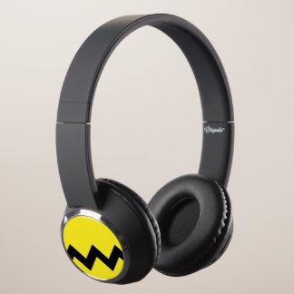 Yellow Zig Zag Headphones