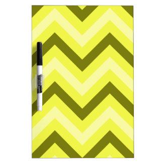 Yellow Zig Zag Pattern Dry-Erase Board