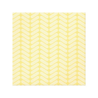 Yellow Zigzag Pattern inspired by Knitting Canvas Prints