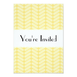 Yellow Zigzag Pattern inspired by Knitting. Card