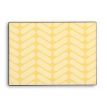 Yellow Zigzag Pattern inspired by Knitting. Envelopes
