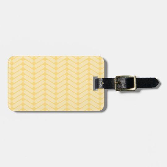 Yellow Zigzag Pattern inspired by Knitting. Luggage Tag