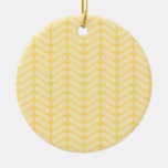 Yellow Zigzag Pattern inspired by Knitting. Ornaments