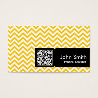 Yellow Zigzag Political Scientist Business Card