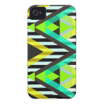 Yellow Zigzag Pop Aztec iPhone 4 Case
