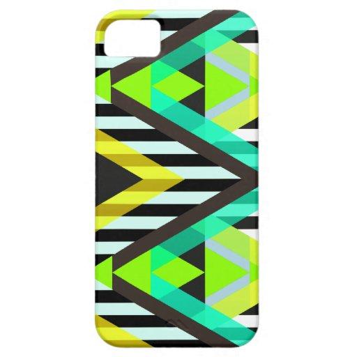 Yellow Zigzag Pop Aztec iPhone 5 Covers