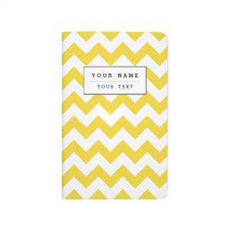 Yellow Zigzag Stripes Chevron Pattern Journal