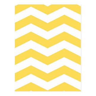 Yellow Zigzags Postcards
