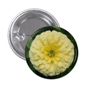 Yellow Zinnia Flower Button