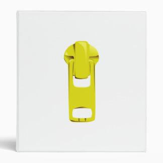 Yellow Zipper 3 Ring Binder