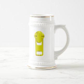 Yellow Zipper 18 Oz Beer Stein