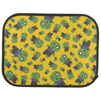 Yellow zombies car mat