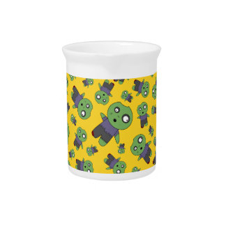 Yellow zombies drink pitcher